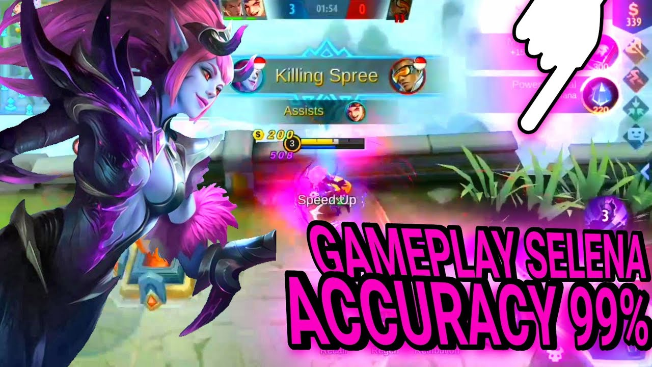 GAMEPLAY BEST SELENA!!! ACCURACY 99% - mobile legend