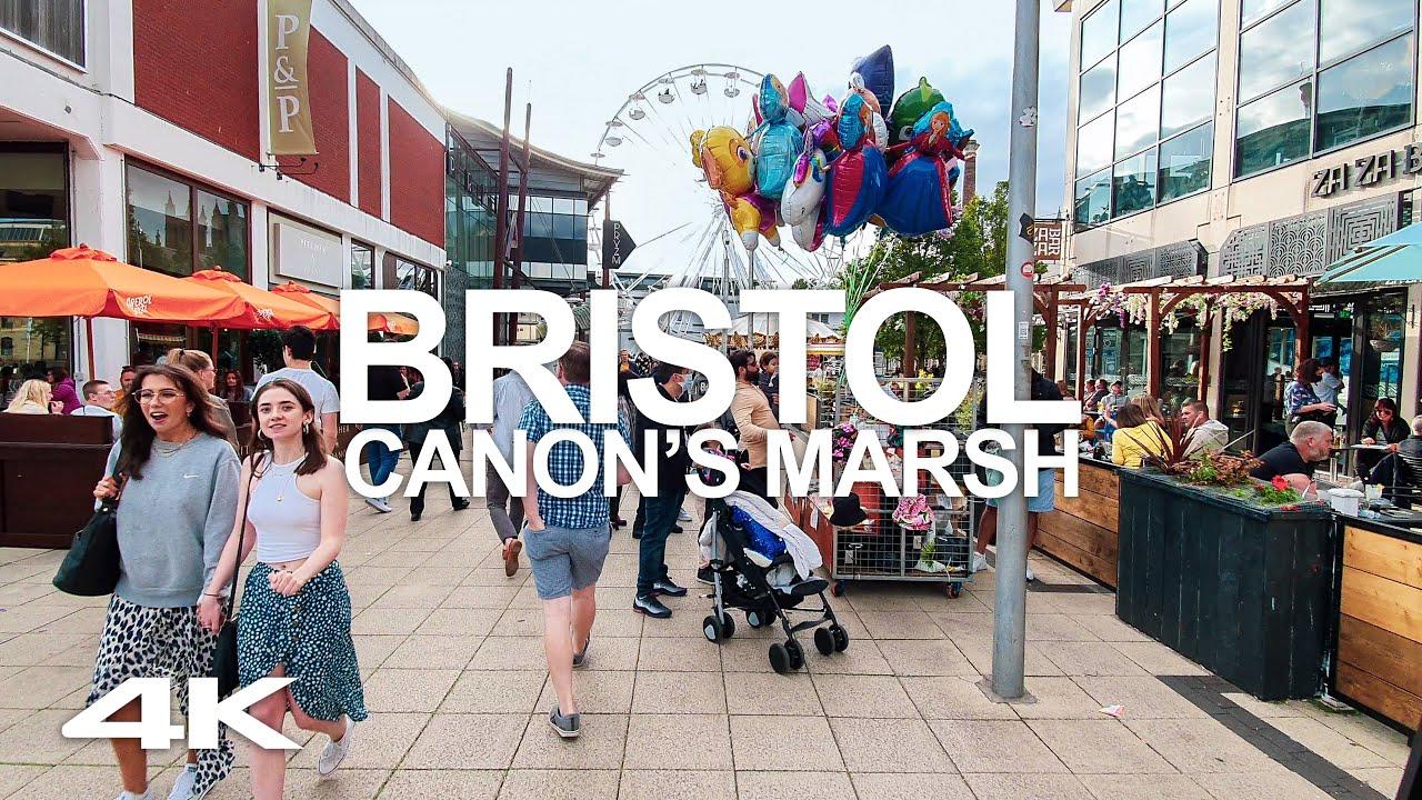 Download AUG. 2020 UK BRISTOL CITY CENTRE RIVERSIDE WALK 4K HARBOUR VIRTUAL TOUR: CANON'S MARSH MILLENNIUM SQ