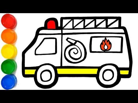Caminhao De Bombeiro Como Desenhar E Colorir Fire Truck How To