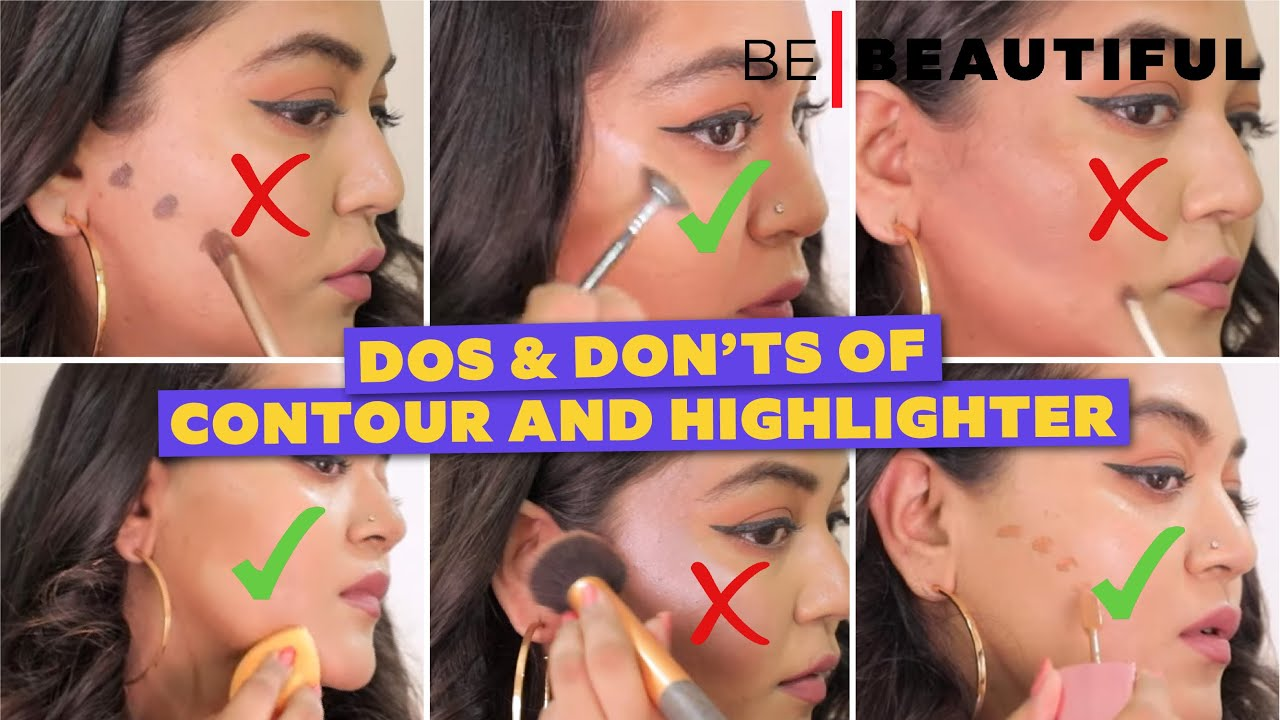 Dos & Don'ts Of Contour and Highlighter | How To Apply Contour and Highlighter | BeBeautiful