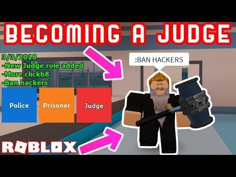 NEW JOB IN JAILBREAK! - Being a Judge! - Roblox Jailbreak Roleplay