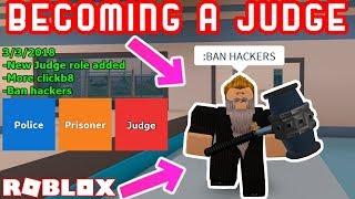 NEW JUDGE ROLE IN JAILBREAK?! - Roblox Jailbreak Roleplay