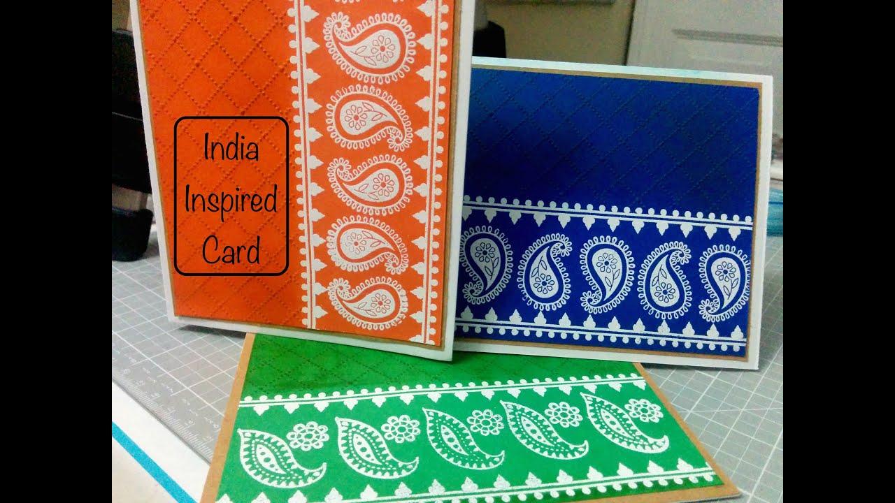 India Inspired Greeting Card Card Making Indian Greeting Card