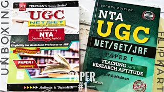 Unboxing Flipkart - Best Books for NTA UGC NET SET JRF Paper 1 - Teaching and Research Aptitude