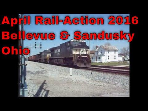April Rail Action 2016   Bellevue & Sandusky Ohio