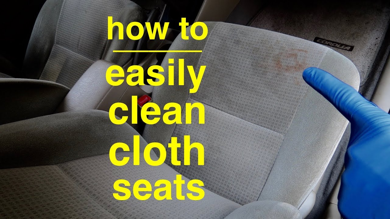 Easiest Way To Clean Cloth Car Seats For Zero Dollars Youtube