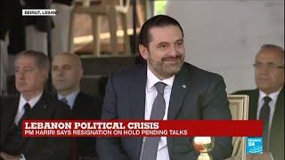 Lebanon: PM Saad Hariri puts resignation on hold pending talks