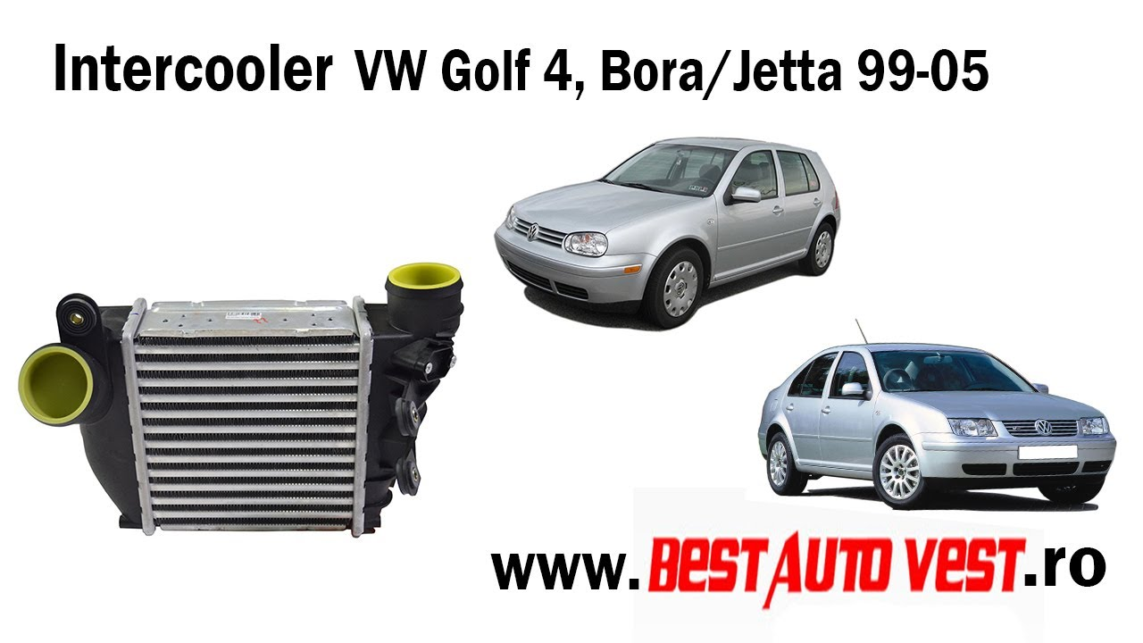 intercooler vw golf 4 bora jetta cu senzor youtube. Black Bedroom Furniture Sets. Home Design Ideas