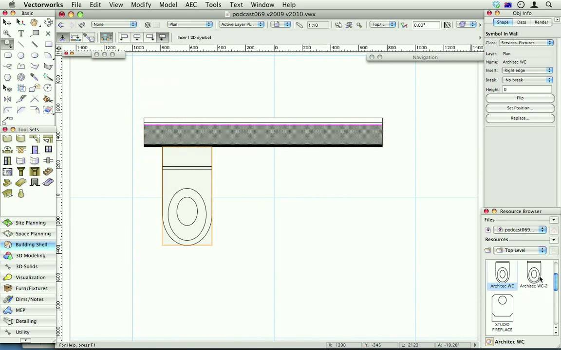 102 Wall Insertion Options For Symbols Vectorworks 2010 Youtube