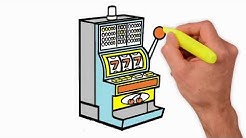 Coloring Pages - How to Draw the Slot Machine - Rockola hold and draw slot machine