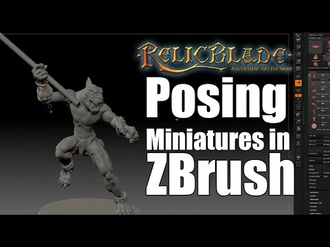 Posing Miniatures in ZBrush