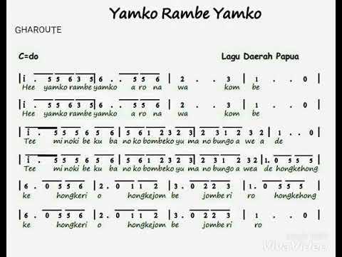 Yamko Rambe Yamko Papua Lagu Daerah Indonesia Youtube