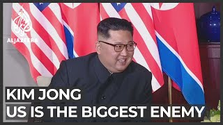 North korean leader kim jong un says the united states is his country's biggest enemy, and has threatened to expand nuclear arsenal.kim said us must ...