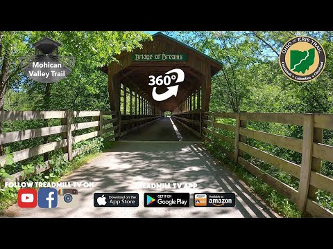 Virtual Ride on Mohican Valley 360 VR Cycling Video