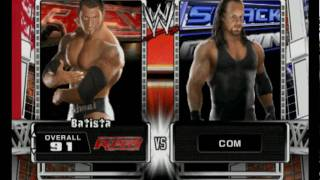 WWE Smack vs Raw 2009 Roster