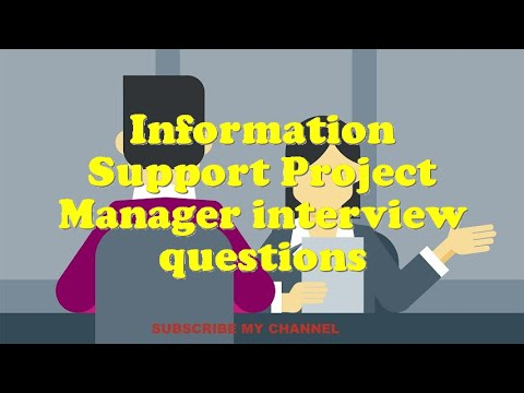 Information Support Project Manager interview questions