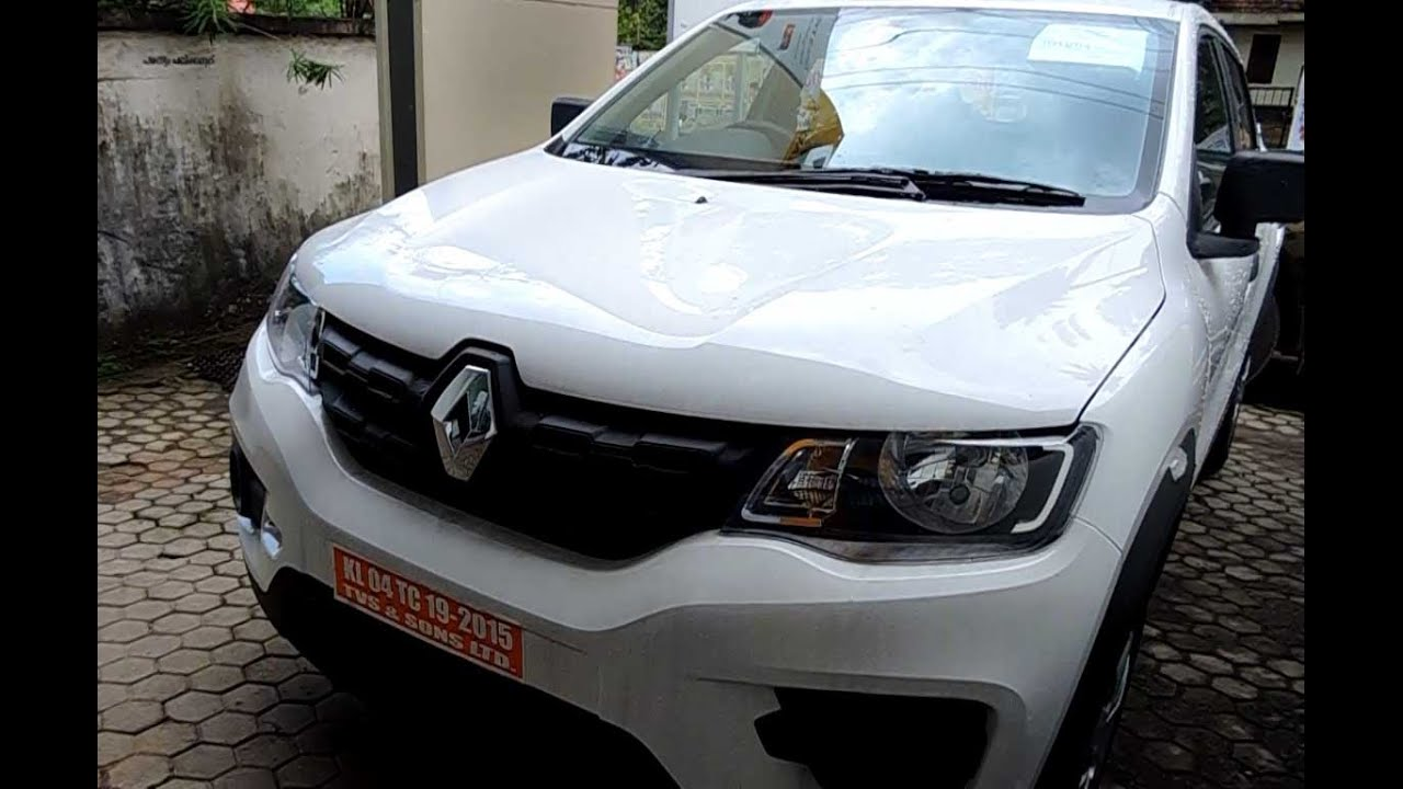 Renault Kwid Ice Cool White Colour Youtube