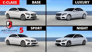 2017-2018 Mercedes C-Class Visual Differences Part 5: BASE vs. LUXURY vs. SPORT vs. NIGHT