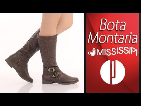 2acefb8fed Bota Montaria Feminina Mississipi - Cafe - 6010378511 - YouTube