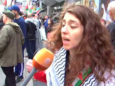 Times Square Palestine Rally