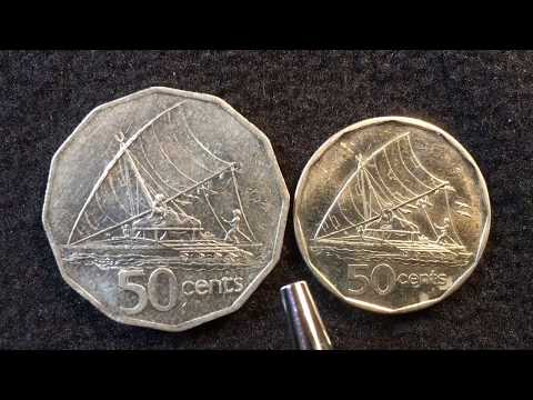 The Island Nation Of Fiji - 50 Cent Coins From 1992 & 2009