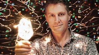 Как сделать новогоднее фото с гирляндами - видео урок по фотографии