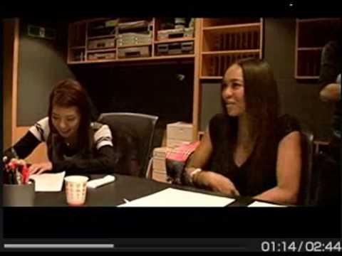 BoA & Crystal Kay ~ Girlfriend recording