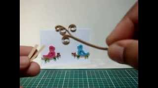 Quilling flower stalk tutorial