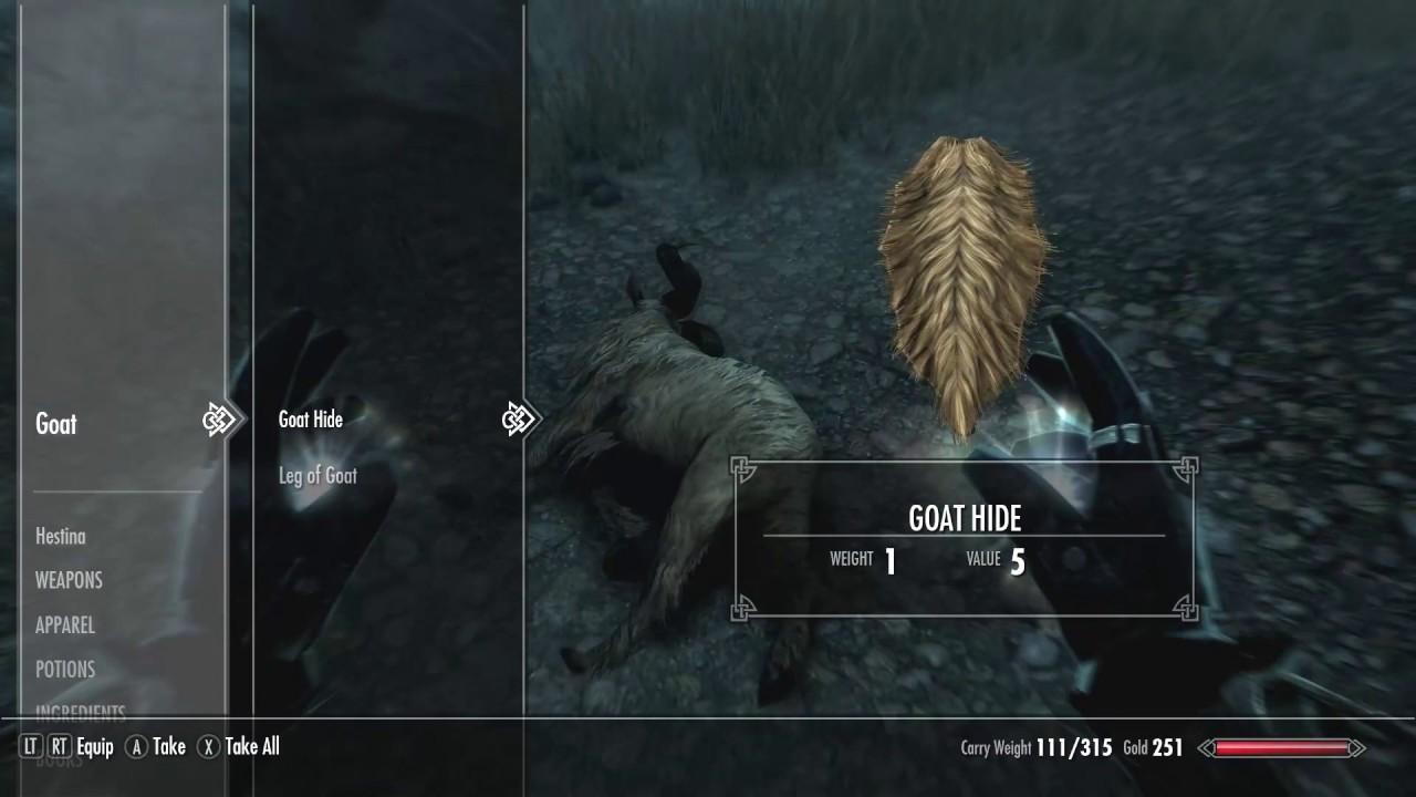 Skyrim Goat Legs Mod