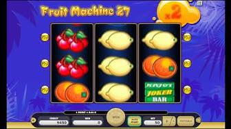 Fruit Machine 27 Free Online Kajot Slot