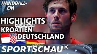 Highlights Kroatien gegen Deutschland - Drama in den Schlussminuten   Handball-EM