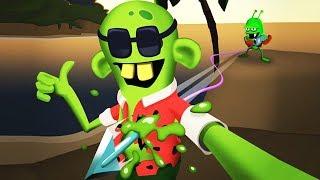 ОХОТНИКИ НА ЗОМБИ ПЛЯЖНАЯ ОХОТА Мульт игра для детей про ловцов на зомби Zombie Catchers