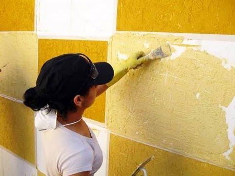 textura de parede duas cores