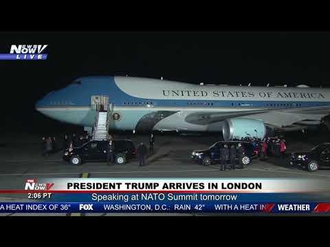LONDON ARRIVAL: President Trump and Melania Trump Arrive For NATO Summit