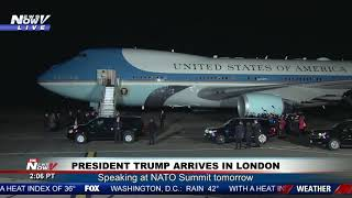 LONDON ARRIVAL: President Trump and Melania Trump Arrive For NATO Summit