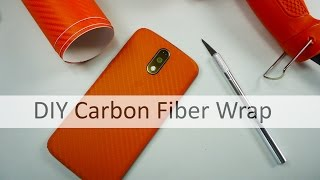 DIY Carbon Fiber Wrap Moto G4 plus