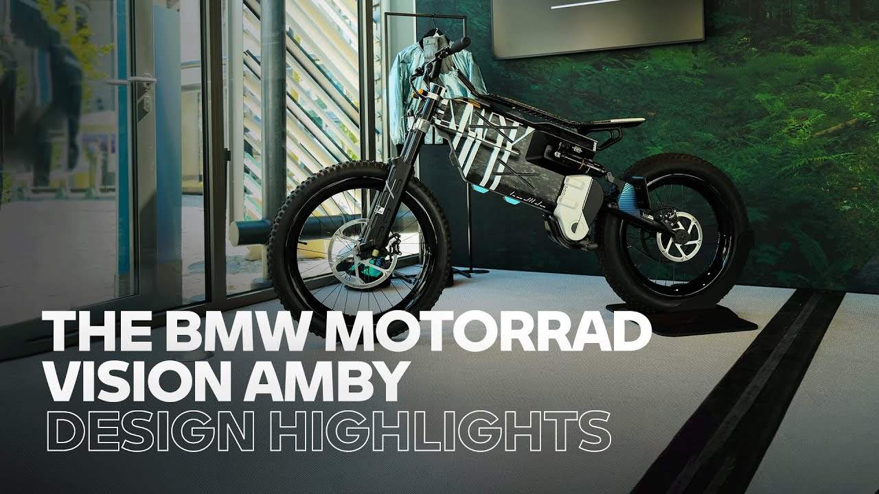The expressive design of the BMW Motorrad Vision AMBY