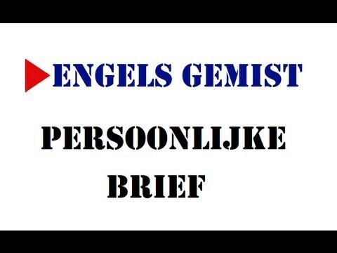 Persoonlijke brief   YouTube