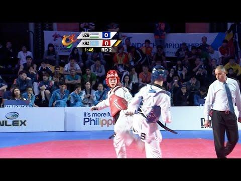 Male -74 kg Semifinal: Uzbekistan vs. Kazakhstan I 22nd Asian Taekwondo Championships