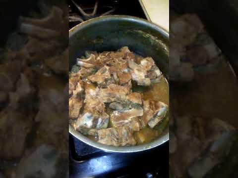 My Neckbones And Cabbage Dinner!