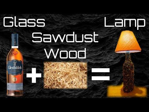 How To Make Bottle Lamp Wood + Glass  Bottle Glenfiddich  | DIY | TUTORIAL | 4K