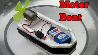 How to Make a Boat - How to an Electric Motor Boat - Air Boat