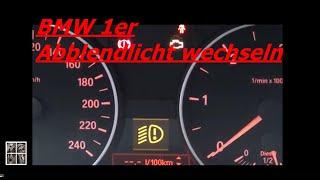 BMW 1er Abblendlicht Birne tauschen wechseln