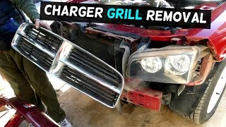 DODGE CHARGER FRONT BUMPER GRILL REMOVAL REPLACEMENT