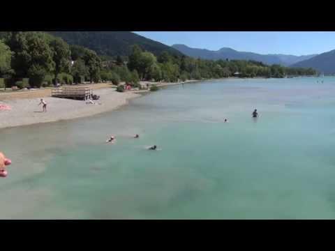 Tegernsee, Bayern, Deutschland im Sommer - Der perfekte Badesee