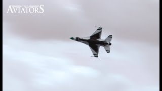 US Air Force Thunderbirds fly-by