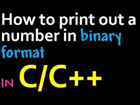 How To Print Out A Number In Binary Format Using C/C++
