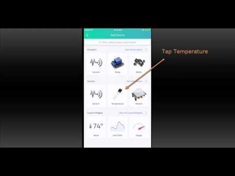 Connecting a Sensor Using the Cayenne Mobile App