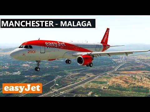 ✈️ X-Plane 11 | EasyJet | MANCHESTER (EGGC) to MALAGA (LEMG) LIVE FULL FLIGHT HD