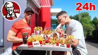 24 STUNDEN NUR KFC ESSEN !!! | PrankBrosTV